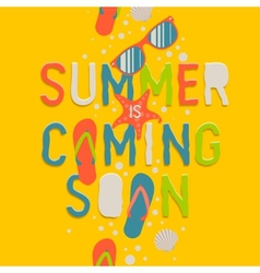 Summer coming soon creative graphic background vector