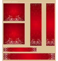 Color christmas banners with snowflakes vector