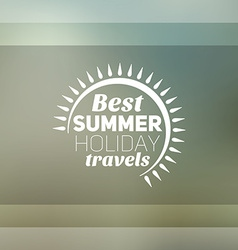 Retro summer vintage label on colorful background vector