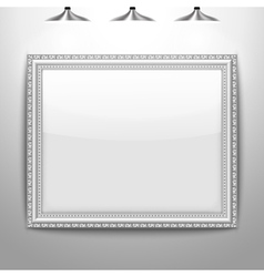 Silver frame picture vector