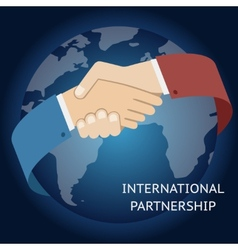 International partnership icon businessman vector