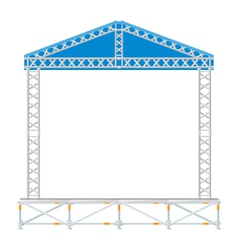 Color flat design sectional concert metal stage vector