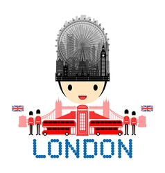 London england travel landmarks vector
