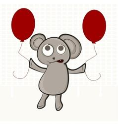 Cute bear puppet vector