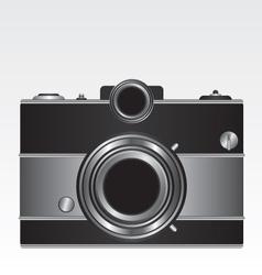 Retro black camera vector