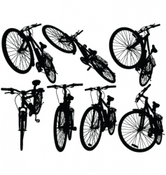 Mountain bikes vector