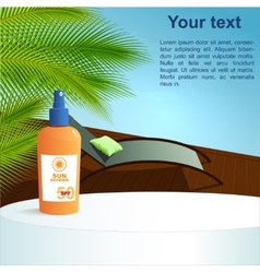 Summer health concept  pool and sunscreen vector