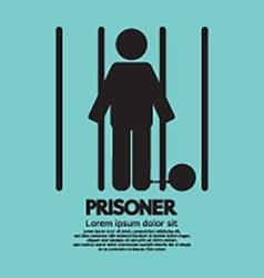 Prisoner in jail symbol vector