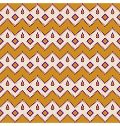 Seamless colorful aztec pattern zigzag vector