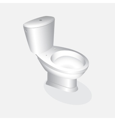 Toilet bowl realistic vector