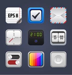 Set square app icon vector