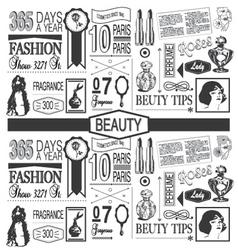 Beauty paper pattern vector