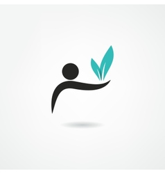 Ecologist icon vector