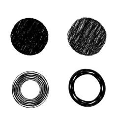 Scribble circles vector