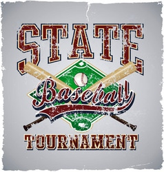 Baseball state tournament vector