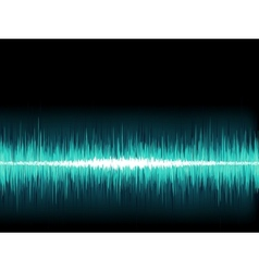 Blue sound wave on white background  eps8 vector