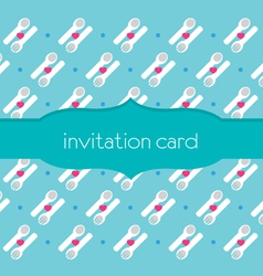 Spoon fork invitation card vector