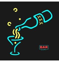 Neon bar symbol vector