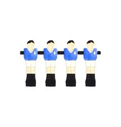 Old fashioned foosball players watercolor object vector