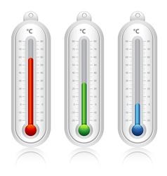 Temperature indicators vector