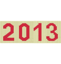 2013 woven numbers vector