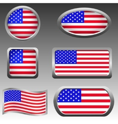 Usa icons vector