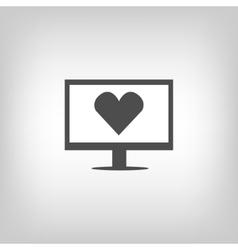 Virtual love sign vector