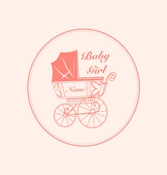 Vintage baby carriage vector
