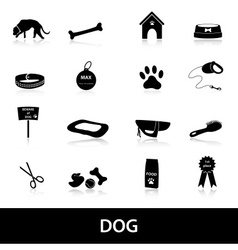 Dog icons set eps10 vector