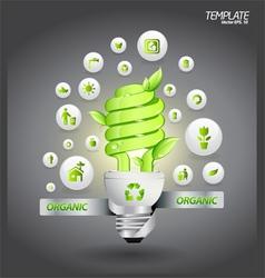 Eco organic vector