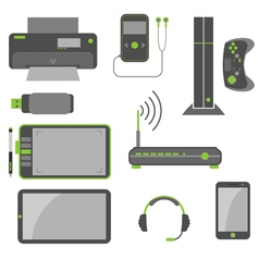 Stylish simple computer devices vector