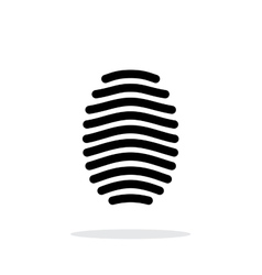 Fingerprint arch type icon on white background vector