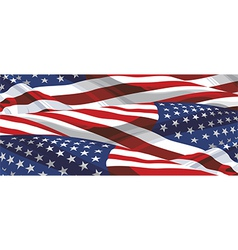 Usa flags background vector