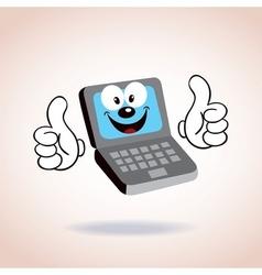 Laptop mascot cartoon character vector