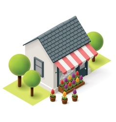 Isometric florist shop vector