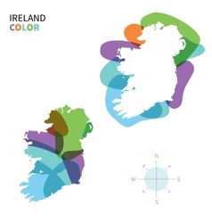 Abstract color map of ireland vector