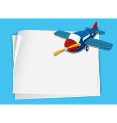 Plane paper copyspace vector