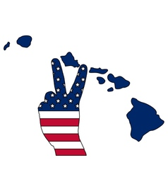 Hawaiian hand signal vector