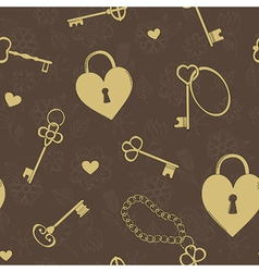 Seamless keys vector