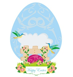 Beautiful easter greeting card vector