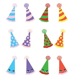 Various party hats pack vector