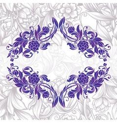 Vintage purple decorative floral frame vector