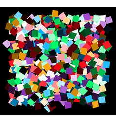 Mess of the color deformed squares vector