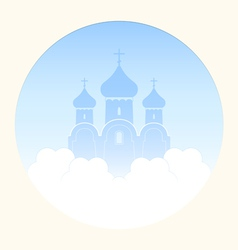 Church in the clouds vector