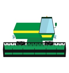 Obsolete green harvester vector
