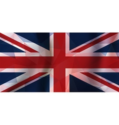 Polygonal pieces england flag vector