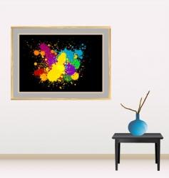 Canvas with splash vector