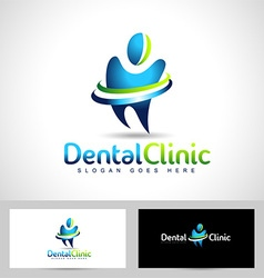 Dental dentist logo vector