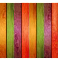 Colored wooden background vector