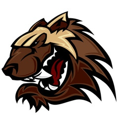 Wolverine badger mascot head vector